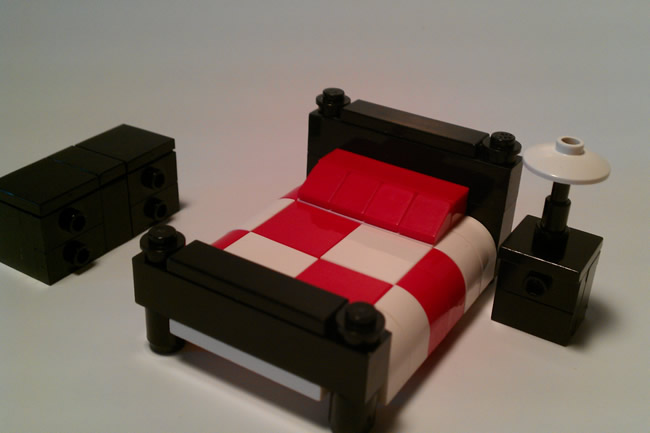 lego furniture bedroom set w bed nightstand dresser
